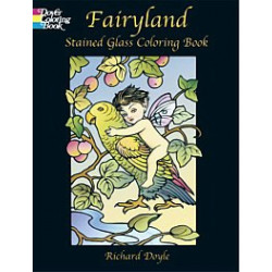 Fairlyland Stained Glass Coloring Book