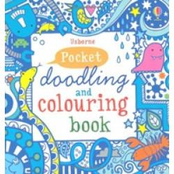 Pocket Doodling and Colouring Book: Blue Book