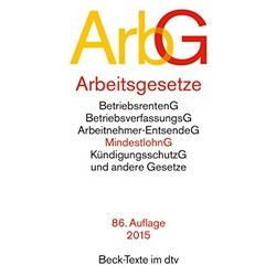Arbeitsgesetze (Beck-Texte Series)