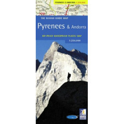 Rough Guide Map Pyrenees & Andora