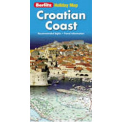 Croatian coast Holiday Map