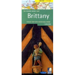 Rough Guide Map Brittany